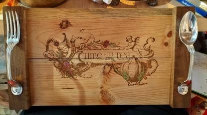 time for tea- gravure laser et peinture